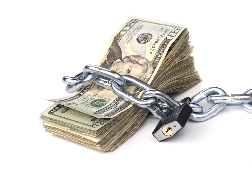Chained up money